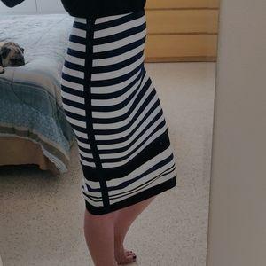 WHBM pencil skirt, stripe- sexy!